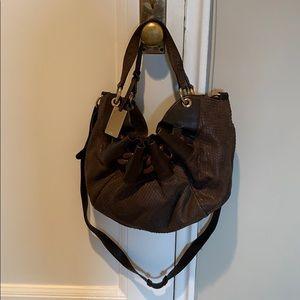 FURLA Brown snakeskin crossbody bag